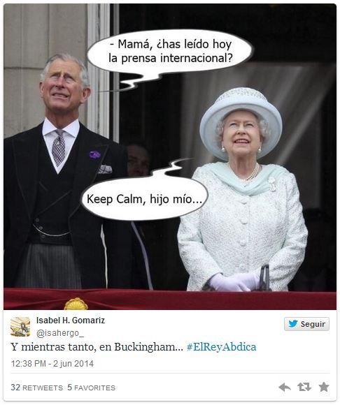 Abdicación del Rey, en clave de humor