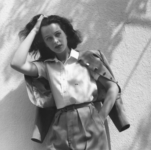 Actress Hedy Lamarr in Blouse and Jacket