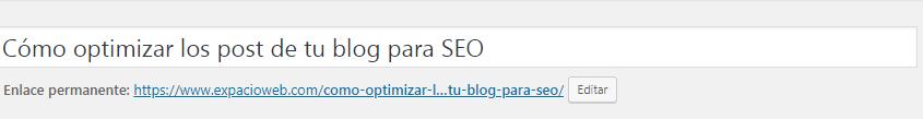 Cómo optimizar los post de tu blog para SEO